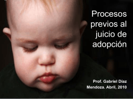 Procesos previos al juicio de adopción
