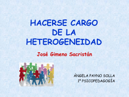 HACERSE CARGO DE LA HETEROGENEIDAD