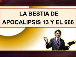 18 La bestia segun Apocalipsis 13 y el 666
