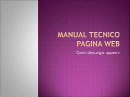 Manual tecnico pagina web