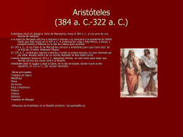 La Filosofía Antigua y Medieval
