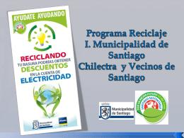 Ecochilectra - Aseo - Municipalidad de santiago