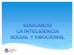 """Presentación: """"Educar la inteligencia social y emocional"""""""