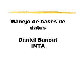 Manejo de bases de datos. Dr. Daniel Bunout