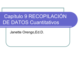 Recopilación de datos cuantitativos.