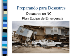 Preparing for Disasters