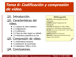 Tema 6: Multimedia Vídeo.