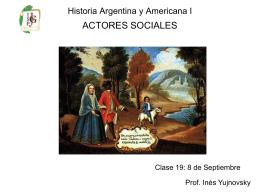 Clase 19 Actores Sociales