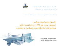 la evaluación ambiental estratégica