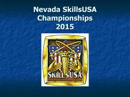 NEVADA SKILLS - SkillsUSA Nevada