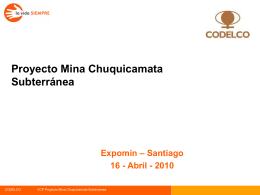 Presentación PMCHS en Expomin (Abril 2010)