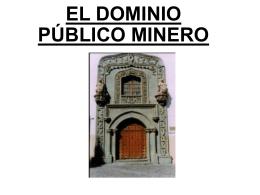 Dominio público minero