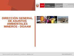Los Estudios Ambientales - Ministerio de Energía y Minas