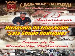 """Sala """"Simón Rodríguez"""" del Comando de las Escuelas."""