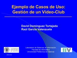 Ejemplo de Casos de Uso Gestión de un Vídeo-Club