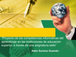 Las competencias informativas en las instituciones de educación
