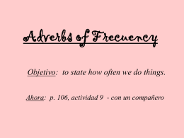 Adverbs of Frecuency
