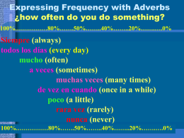 Expressing Frequency with Adverbs ¿how often do you do something?
