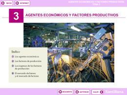 3 agentes económicos y factores productivos