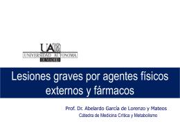 Lesiones por agentes físicos y fármacos 2011_12