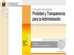 Probidad en la Administración del Estado