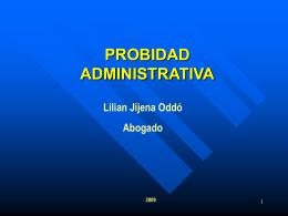 Seminario_Probidad Administrativa_2009_