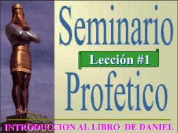 Introducción al Libro de Daniel