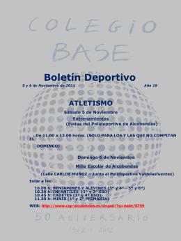 El Boletínde los Deportes. COLEGIO BASE Año 2 número 28 10