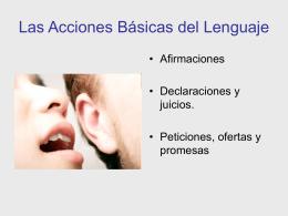 Las Acciones Básicas del Lenguaje1