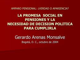 la promesa social en pensiones y la necesidad