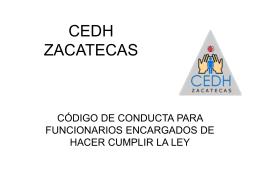 Código de Conducta para Funcionarios Encargado de Hacer