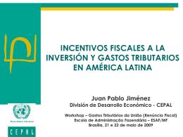 Incentivos fiscales a la inversión