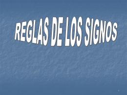 Regla de signos