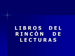 Rincones - Lectura-de