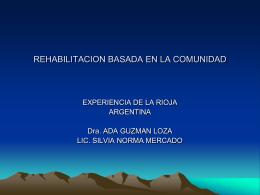 REHABILITACION BASADA EN LA COMUNIDAD