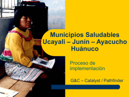 Intervención en Barrios Comunidades y familias.