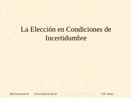Elección con Incertidumbre