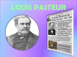 Louis Pasteur. 1