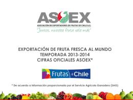 exportación de fruta fresca a europa temporada 2013-2014