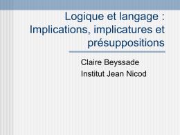 Cours - Claire Beyssade