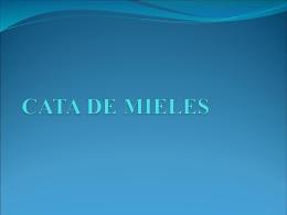 CATA DE MIELES - productosdelacolmena