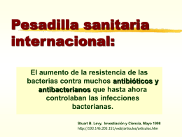 Pesadilla sanitaria internacional: