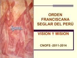 Visión y misión de la fraternidad nacional de la OFS