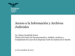 Presentación - Suprema Corte de Justicia de la Nación