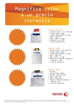 6125_N 6180 8560 - Xerox México Distribuidor