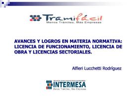 avances y logros en materia normativa: licencia de