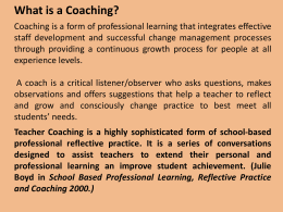 Coaching - ConnectingBHSEG