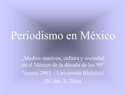 Periodismo y poder en México