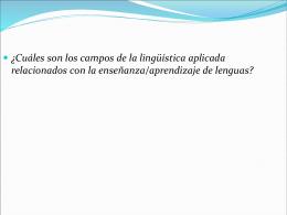 ¿Cuáles son los campos de la lingüística aplicada
