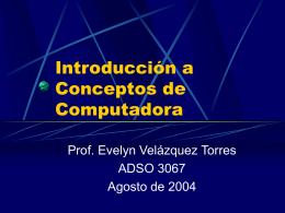 Introducción a Conceptos de Computadora